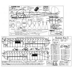 1/4 Scale Kaiser Ka3 Plans